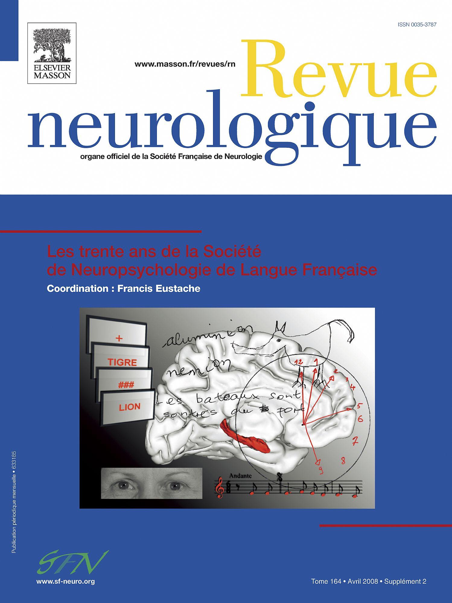 Revue Neurologique, mars 2009